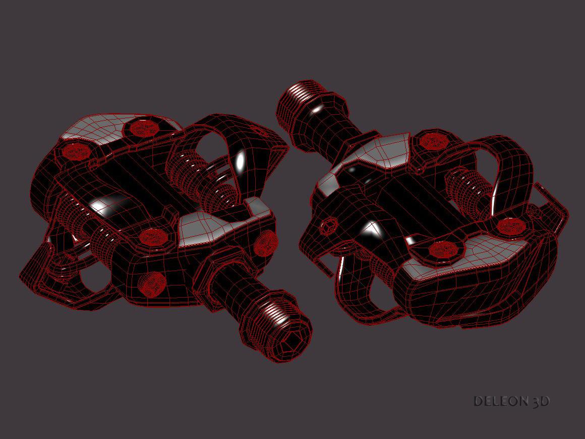 clipless shimano spd pedals 3d model max fbx c4d lxo 279530