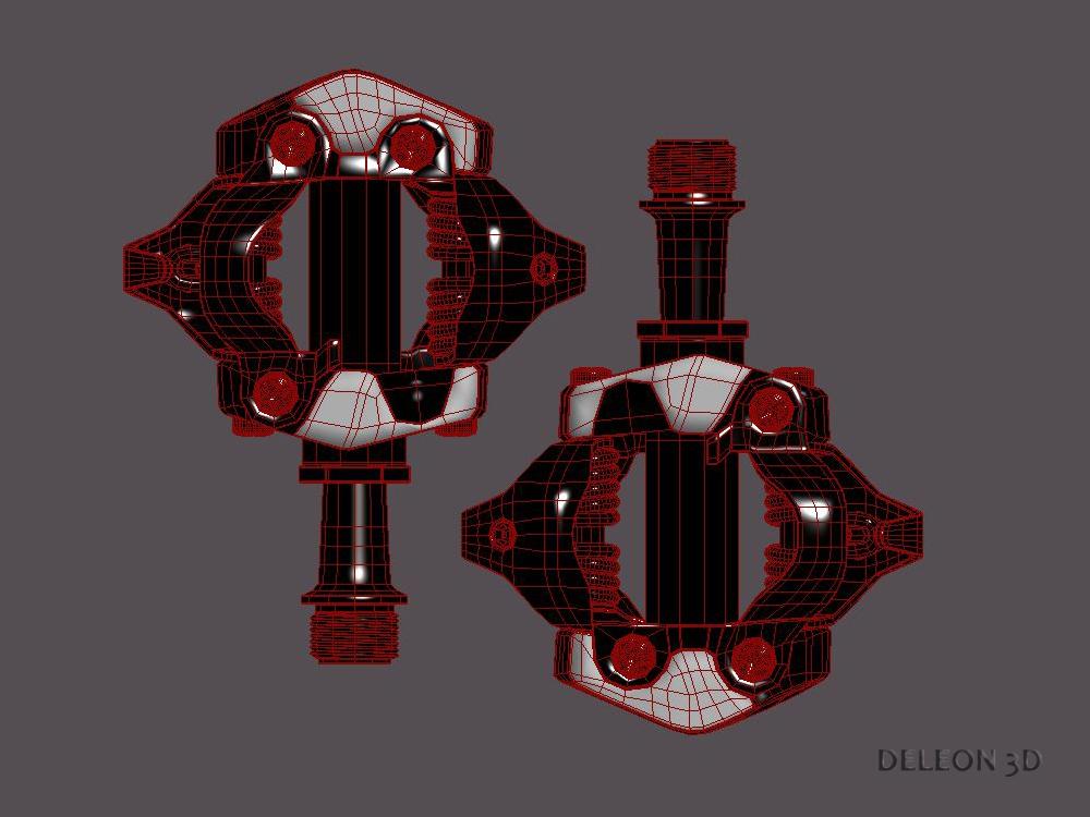 clipless shimano spd pedals 3d model max fbx c4d lxo 279531
