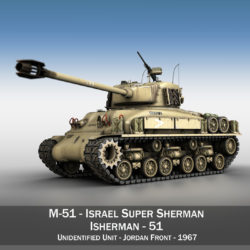 M51 Israel Super Sherman - 51 3d model high poly virtual reality