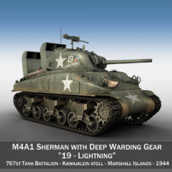 M4A1 Sherman - Lightning 3d model virtual reality