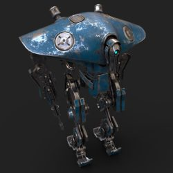 Heavy Robot VEX700 3d model games low poly 3ds max fbx obj