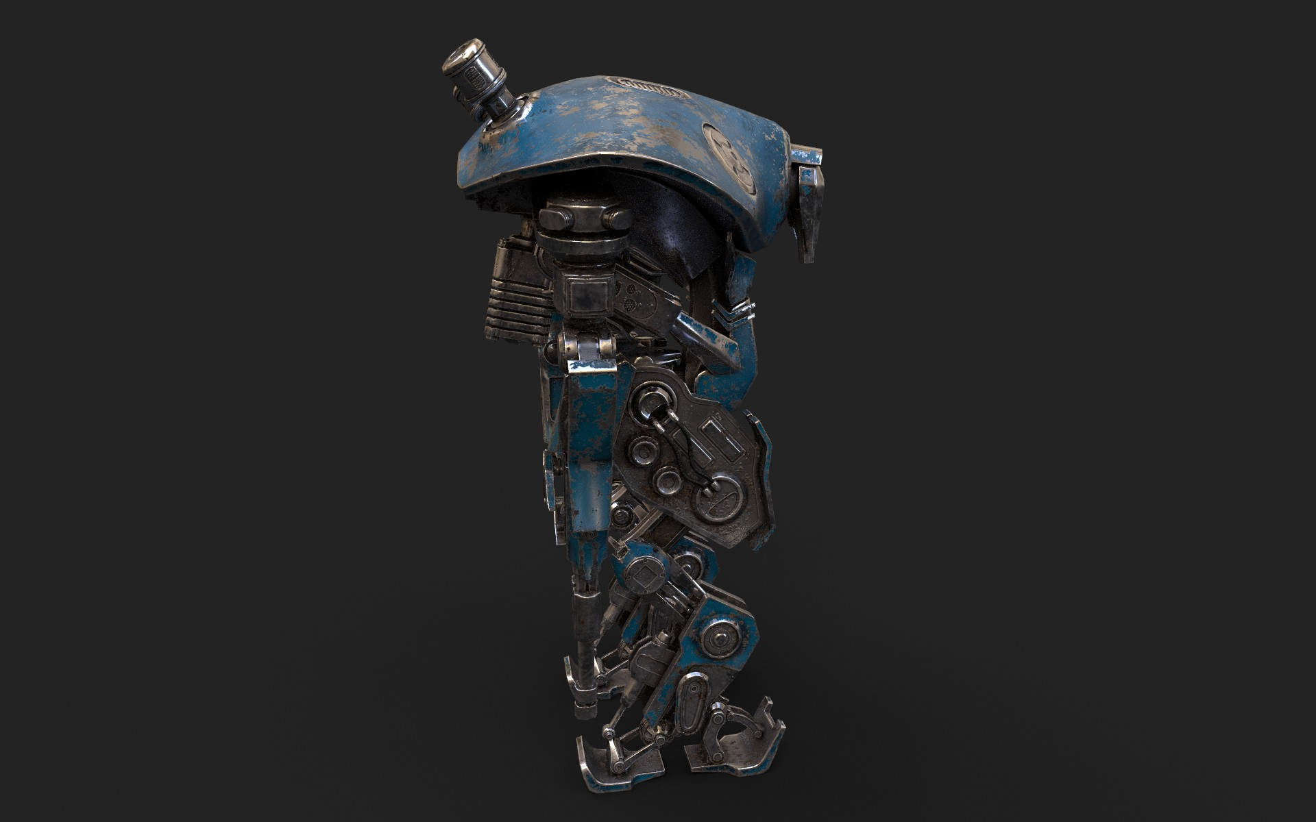 heavy robot vex700 3d model 3ds max fbx obj 279577