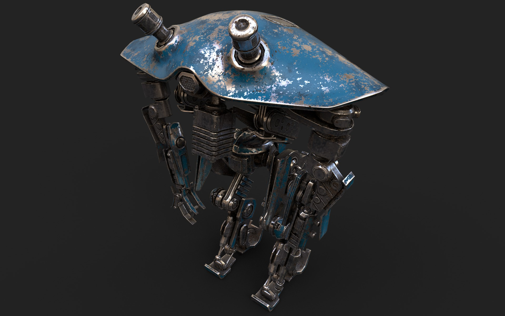 heavy robot vex700 3d model 3ds max fbx obj 279578