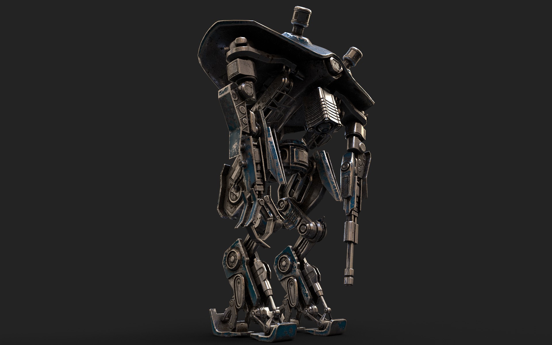 heavy robot vex700 3d model 3ds max fbx obj 279580
