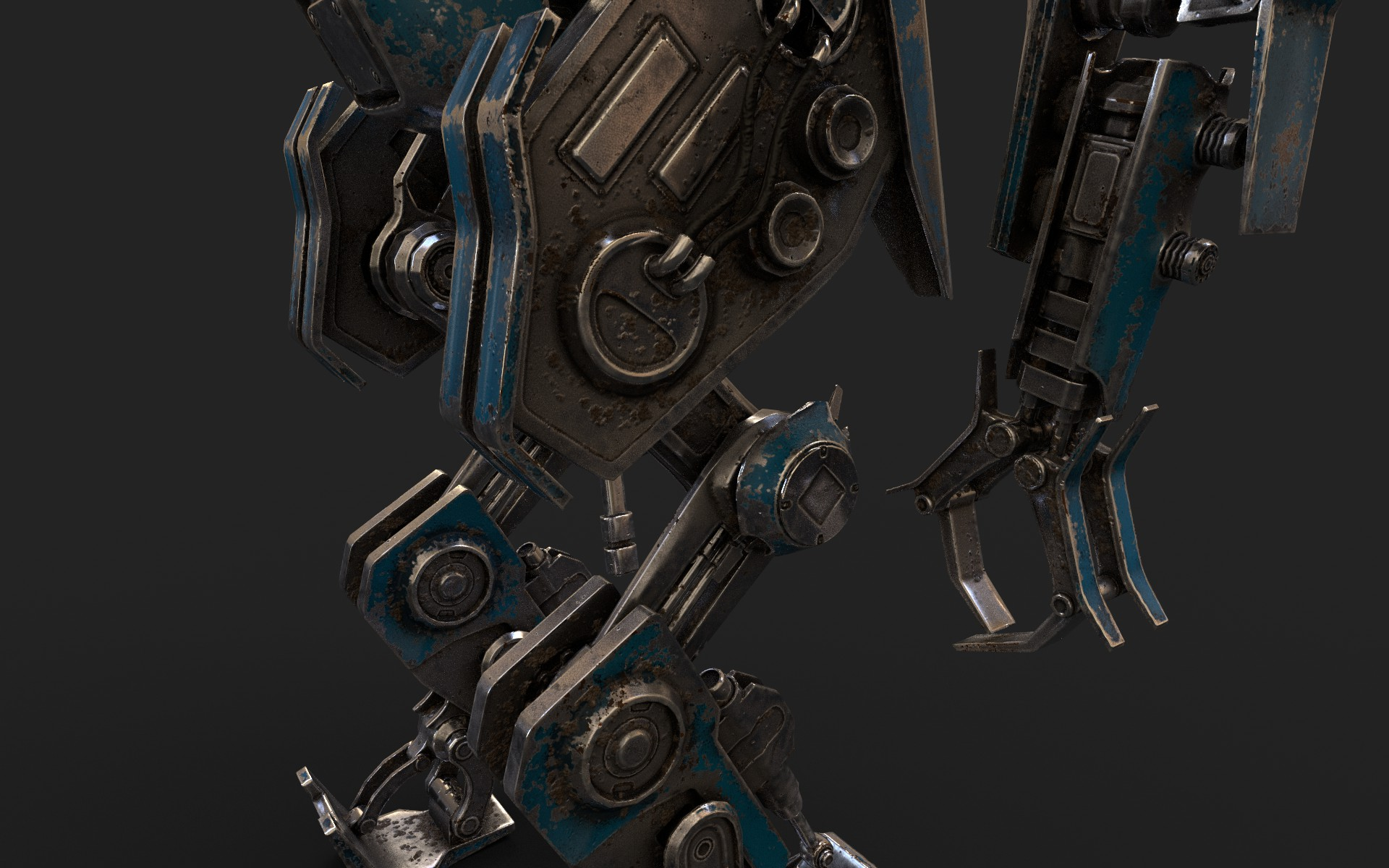 heavy robot vex700 3d model 3ds max fbx obj 279581