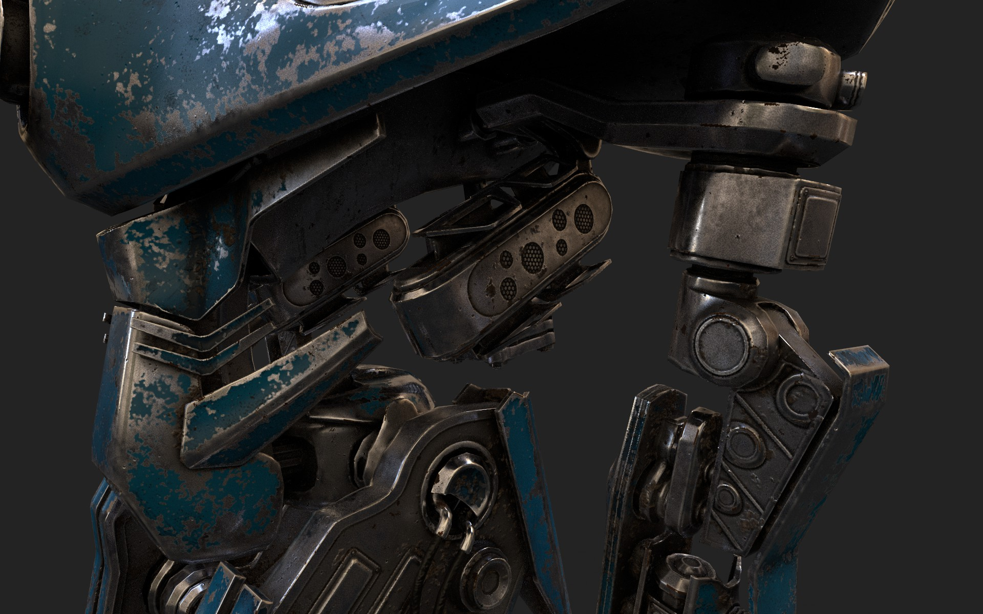 heavy robot vex700 3d model 3ds max fbx obj 279582