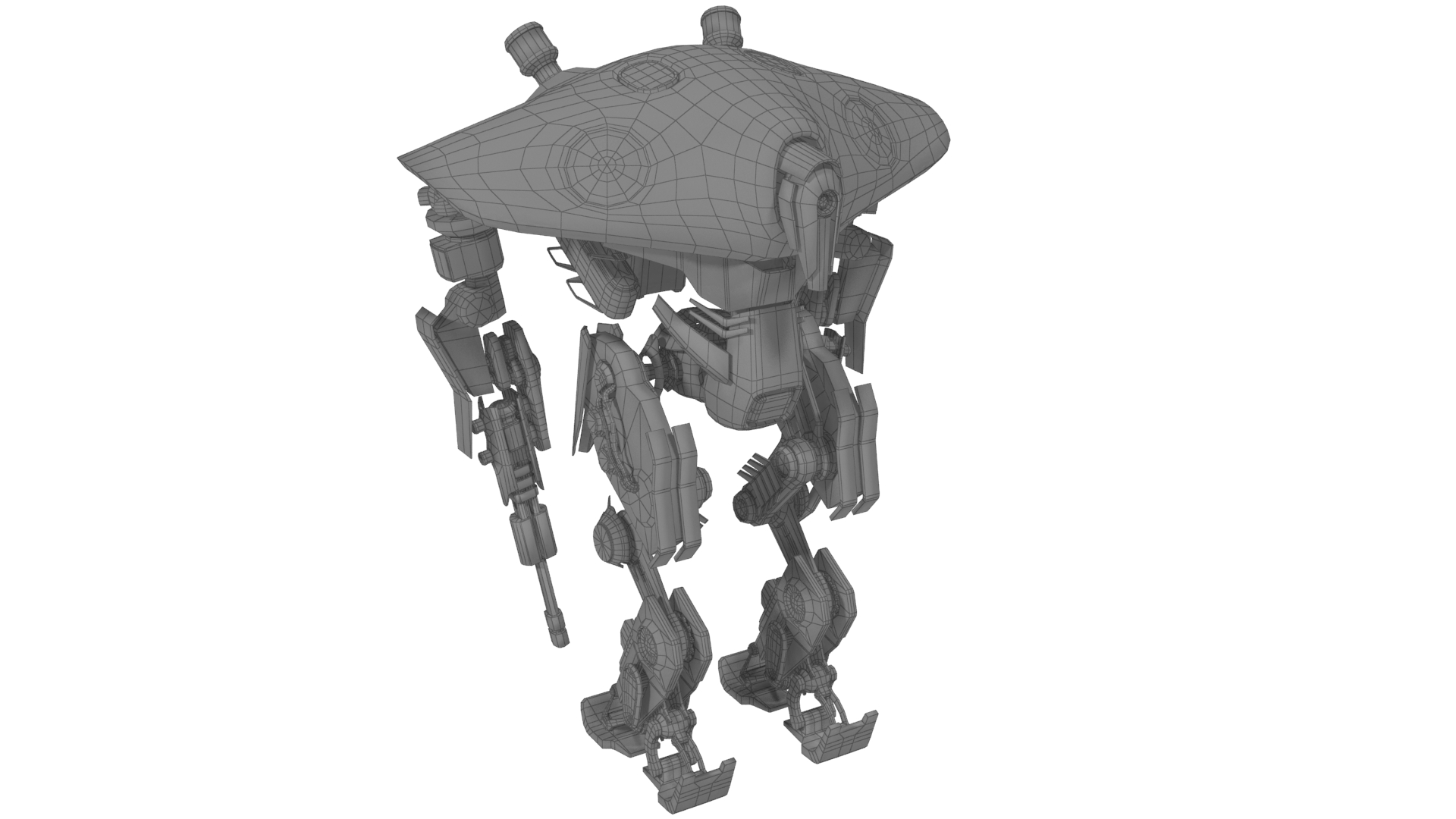 heavy robot vex700 3d model 3ds max fbx obj 279583