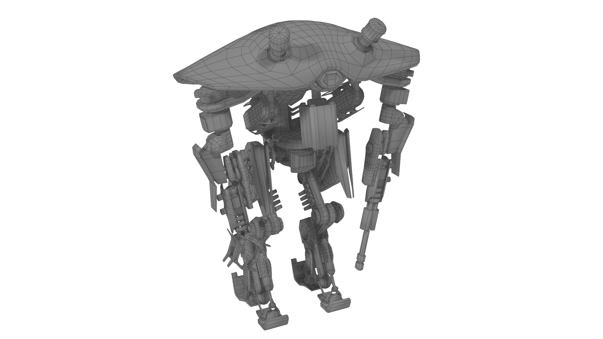 heavy robot vex700 3d model 3ds max fbx obj 279584