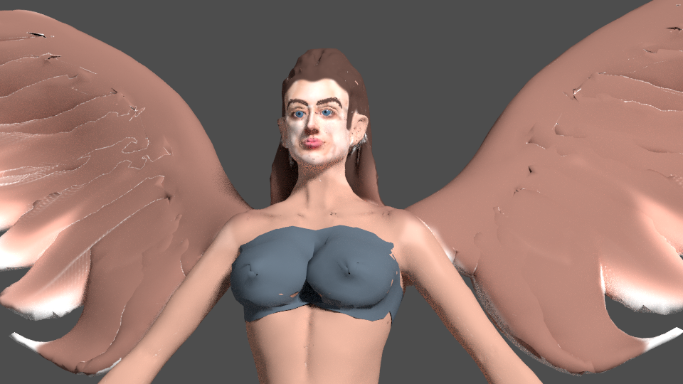 angel with wings 3d model blend 279670