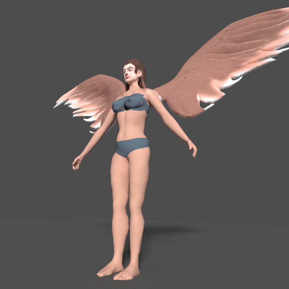 angel with wings 3d model blend 279672