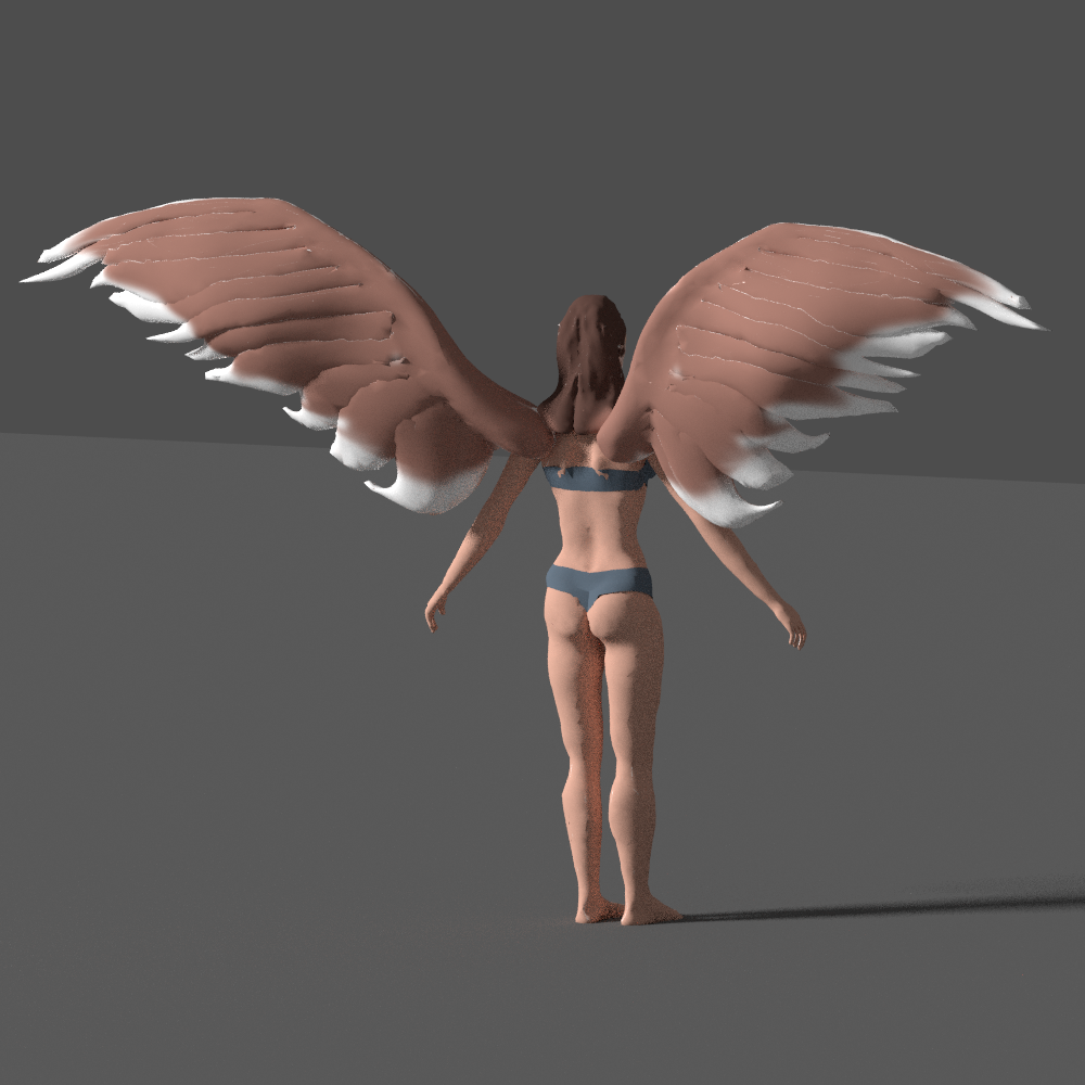 angel with wings 3d model blend 279674