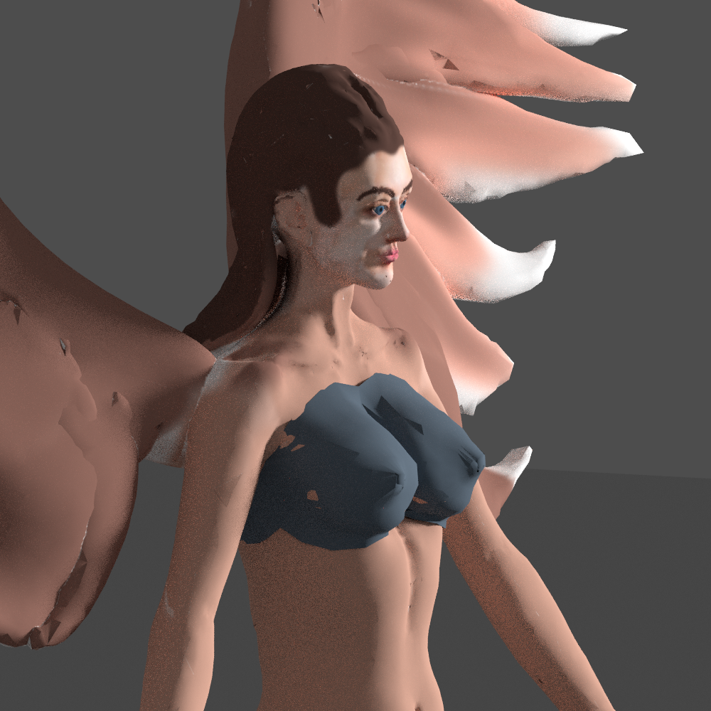 angel with wings 3d model blend 279675