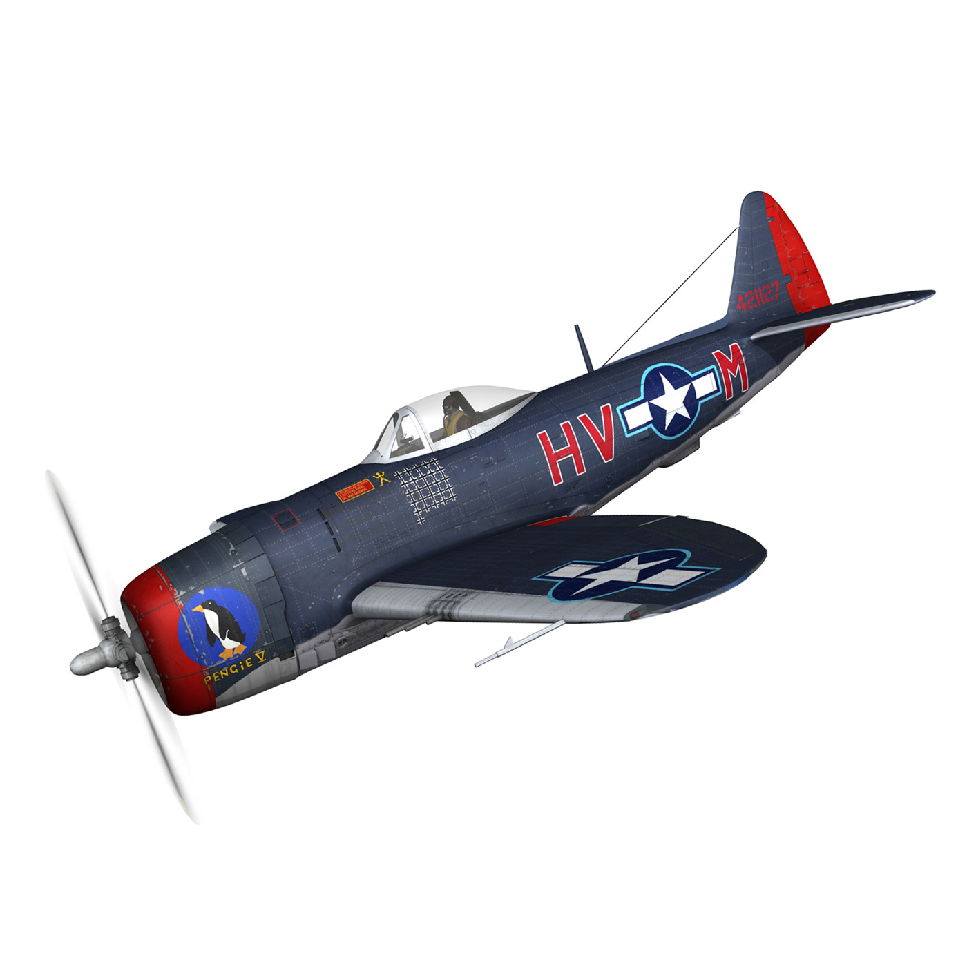 republic p-47m thunderbolt – pengie v 3d model 3ds c4d fbx lwo lw lws obj 279715
