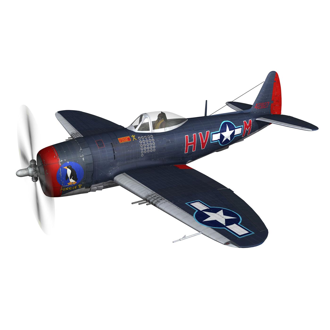 republic p-47m thunderbolt – pengie v 3d model 3ds c4d fbx lwo lw lws obj 279716