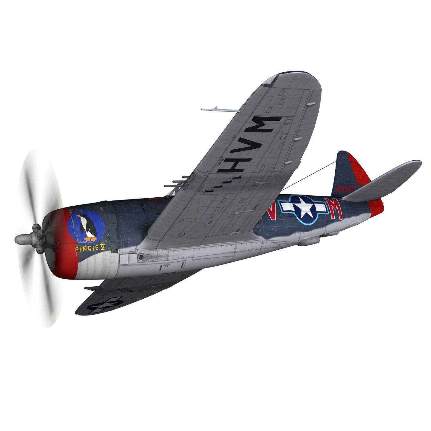 republic p-47m thunderbolt – pengie v 3d model 3ds c4d fbx lwo lw lws obj 279717