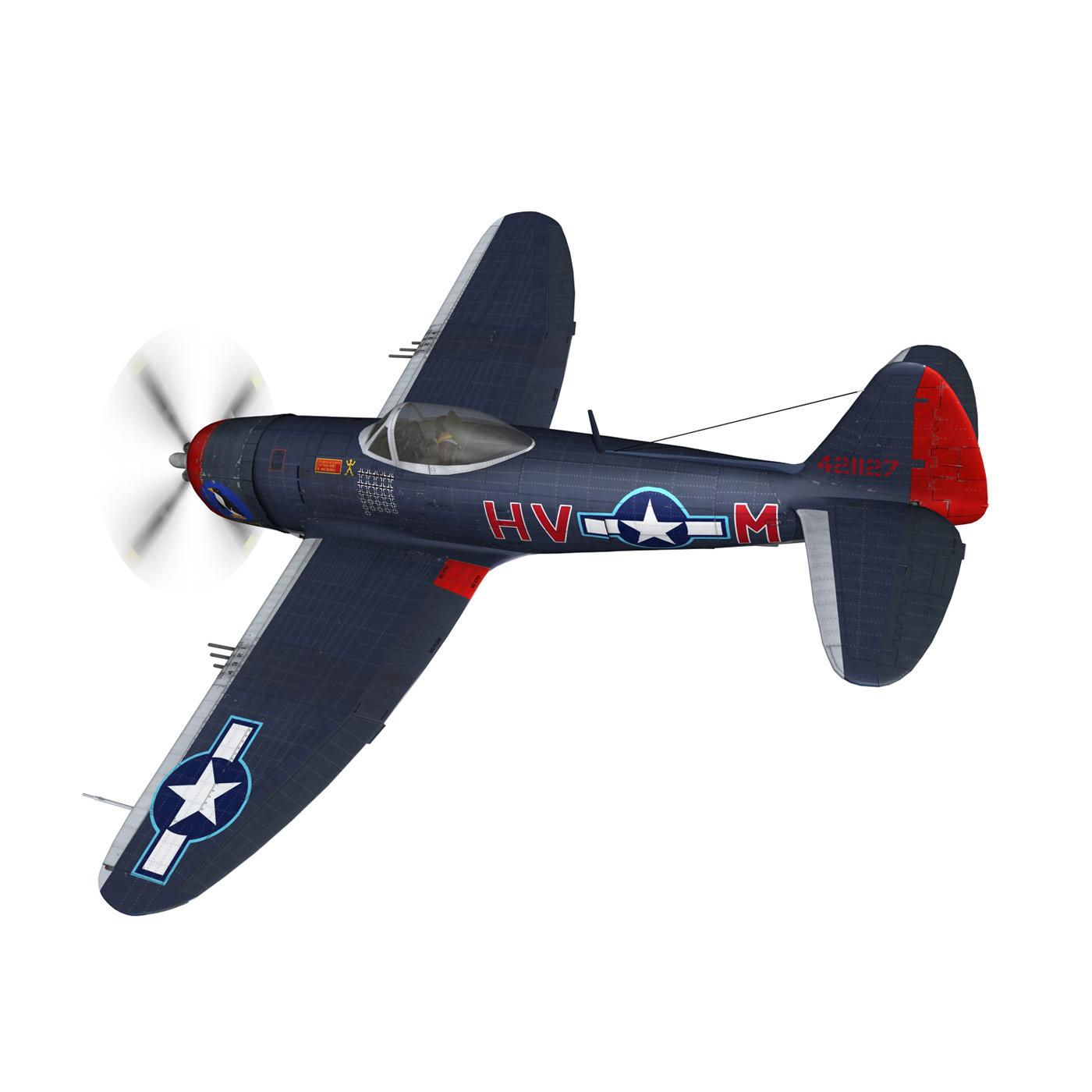 republic p-47m thunderbolt – pengie v 3d model 3ds c4d fbx lwo lw lws obj 279718
