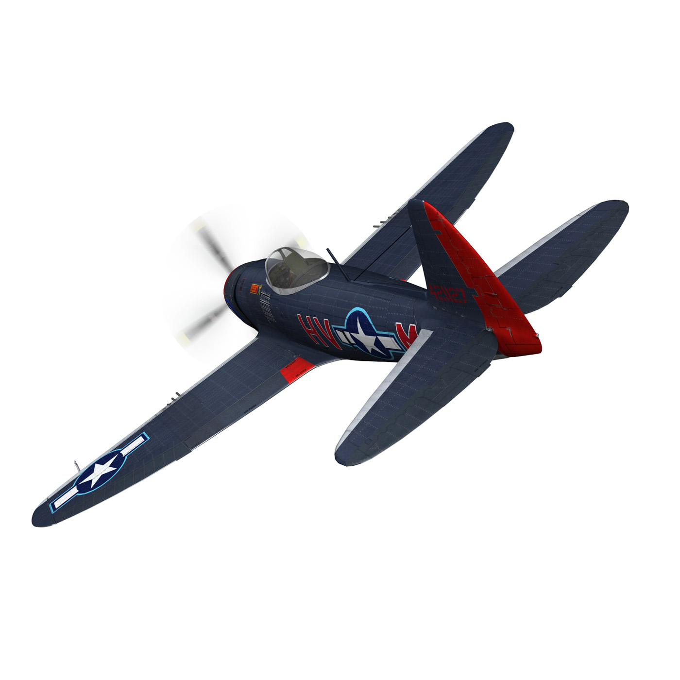 republic p-47m thunderbolt – pengie v 3d model 3ds c4d fbx lwo lw lws obj 279719