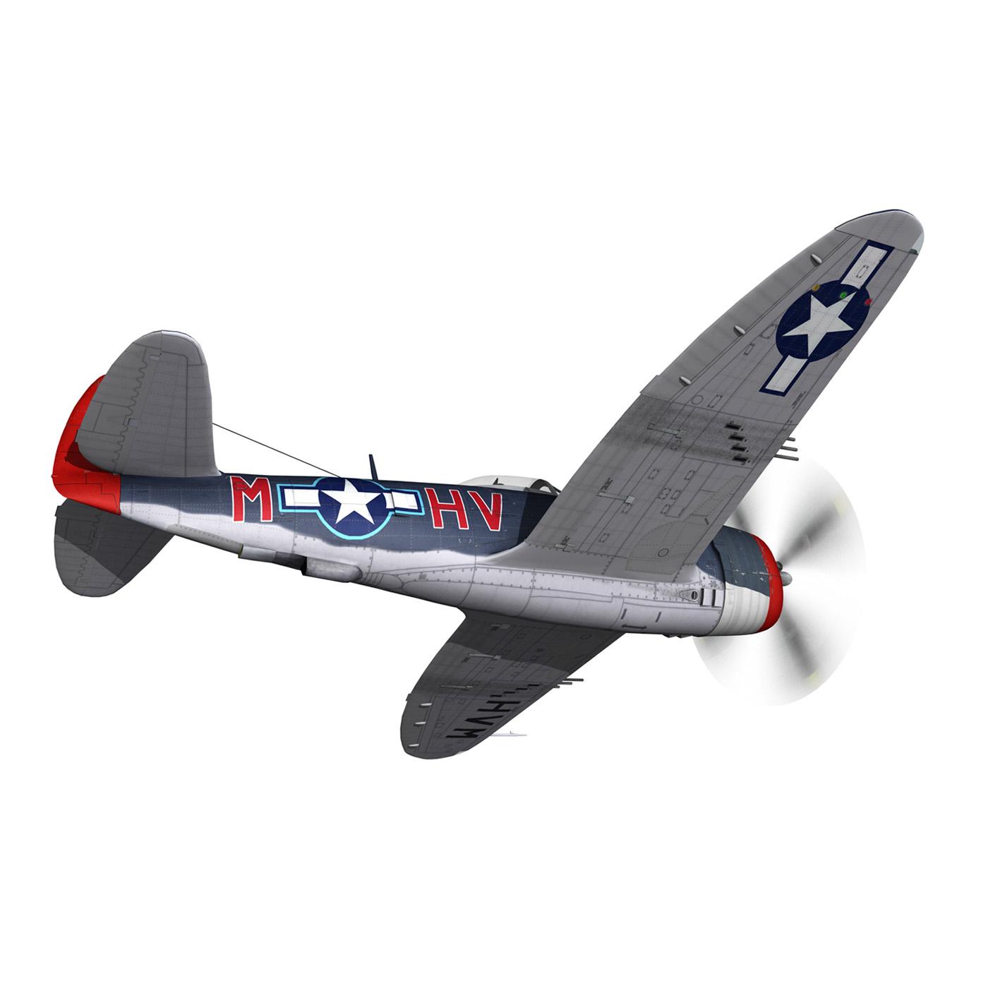 republic p-47m thunderbolt – pengie v 3d model 3ds c4d fbx lwo lw lws obj 279720