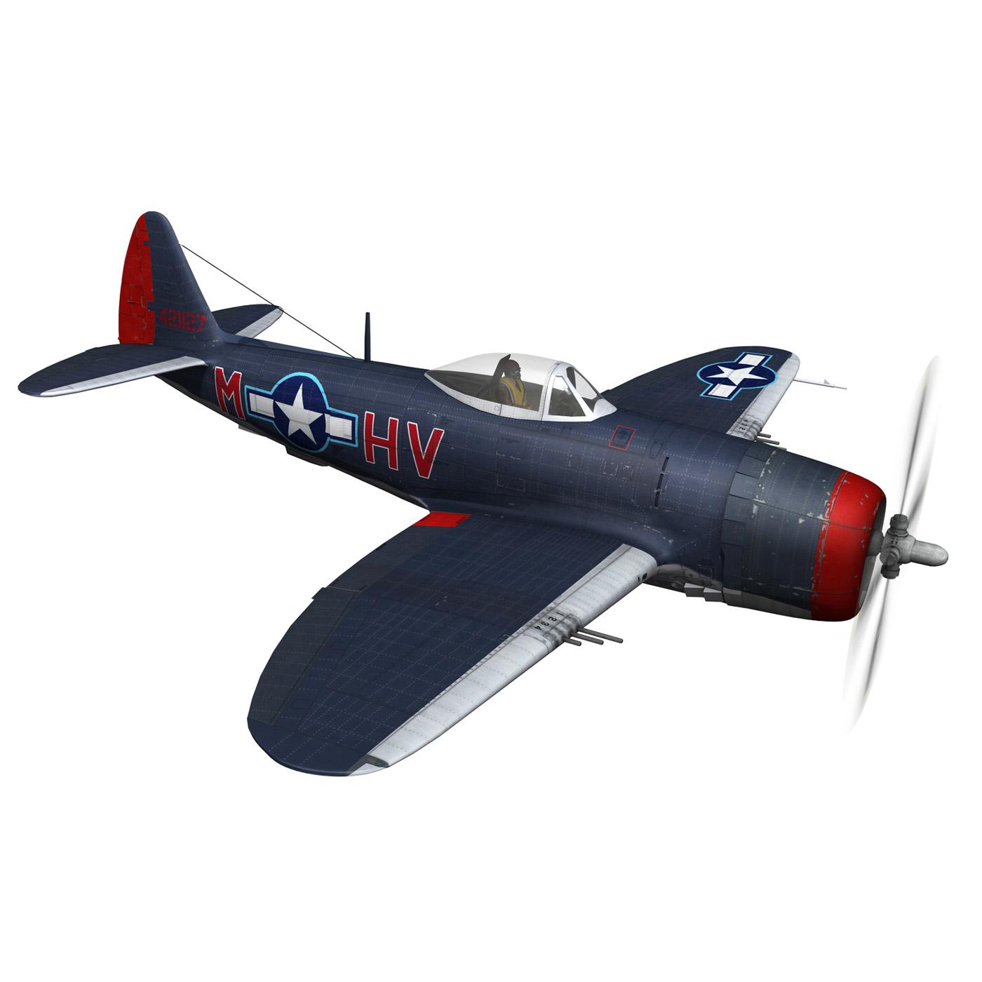 republic p-47m thunderbolt – pengie v 3d model 3ds c4d fbx lwo lw lws obj 279722