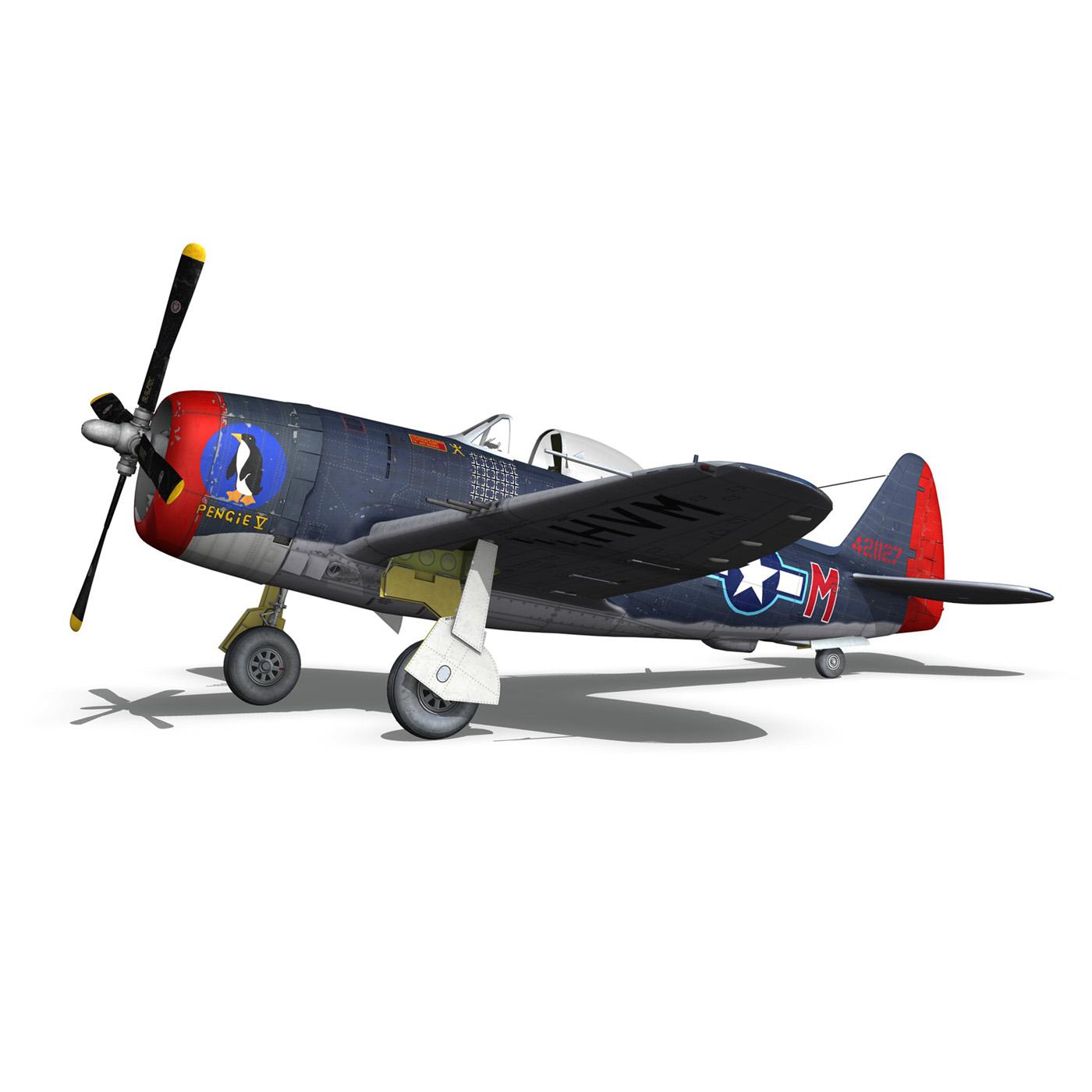 republic p-47m thunderbolt – pengie v 3d model 3ds c4d fbx lwo lw lws obj 279724
