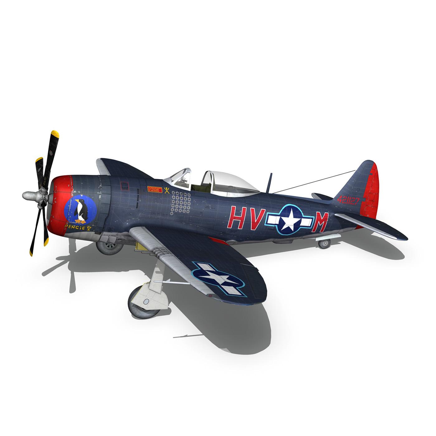 republic p-47m thunderbolt – pengie v 3d model 3ds c4d fbx lwo lw lws obj 279725