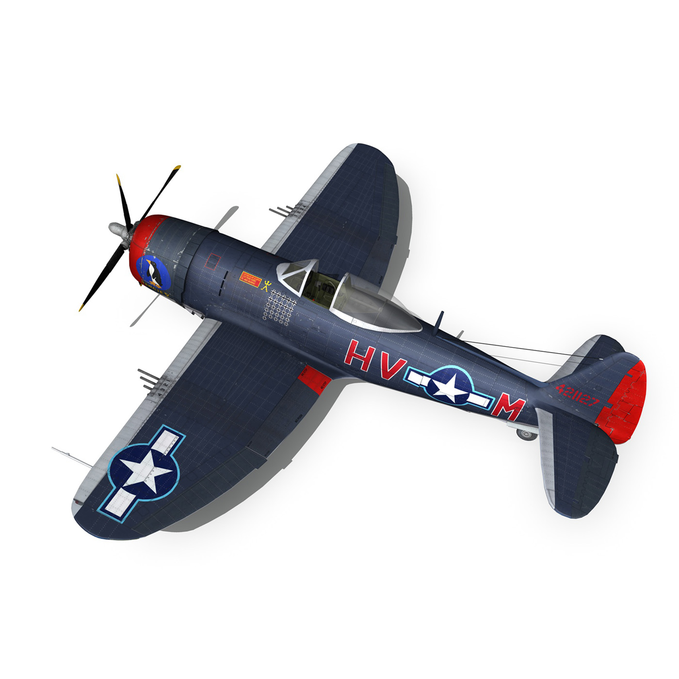 republic p-47m thunderbolt – pengie v 3d model 3ds c4d fbx lwo lw lws obj 279726