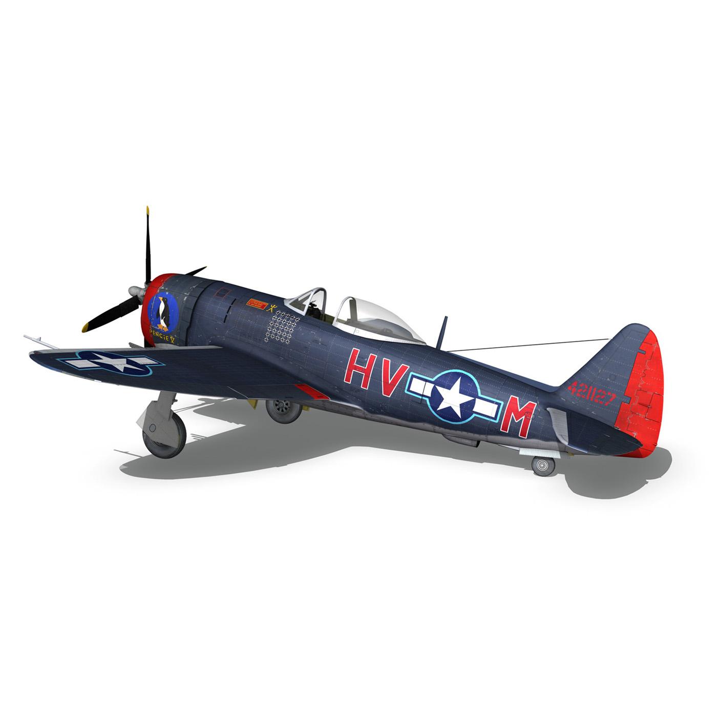 republic p-47m thunderbolt – pengie v 3d model 3ds c4d fbx lwo lw lws obj 279727