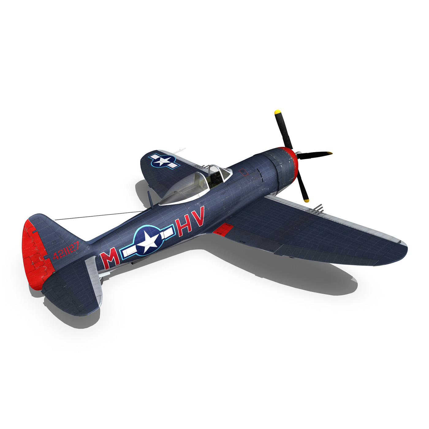 republic p-47m thunderbolt – pengie v 3d model 3ds c4d fbx lwo lw lws obj 279728