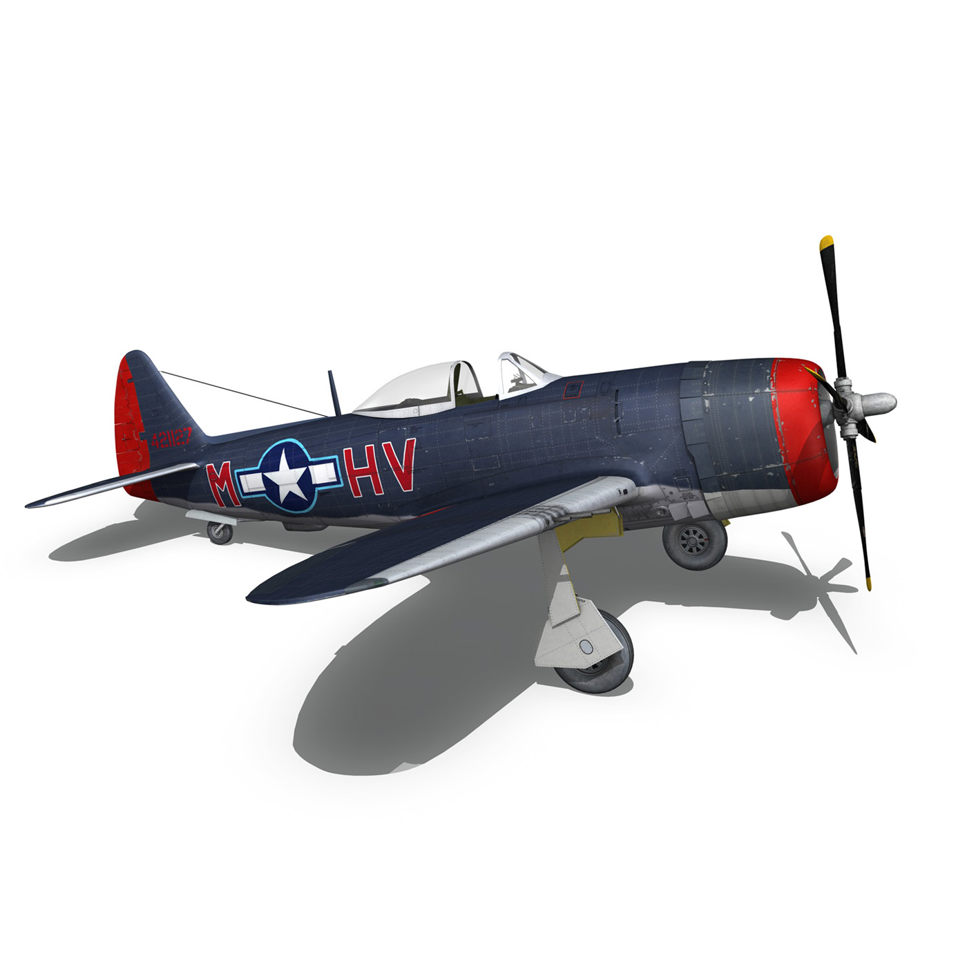 republic p-47m thunderbolt – pengie v 3d model 3ds c4d fbx lwo lw lws obj 279729