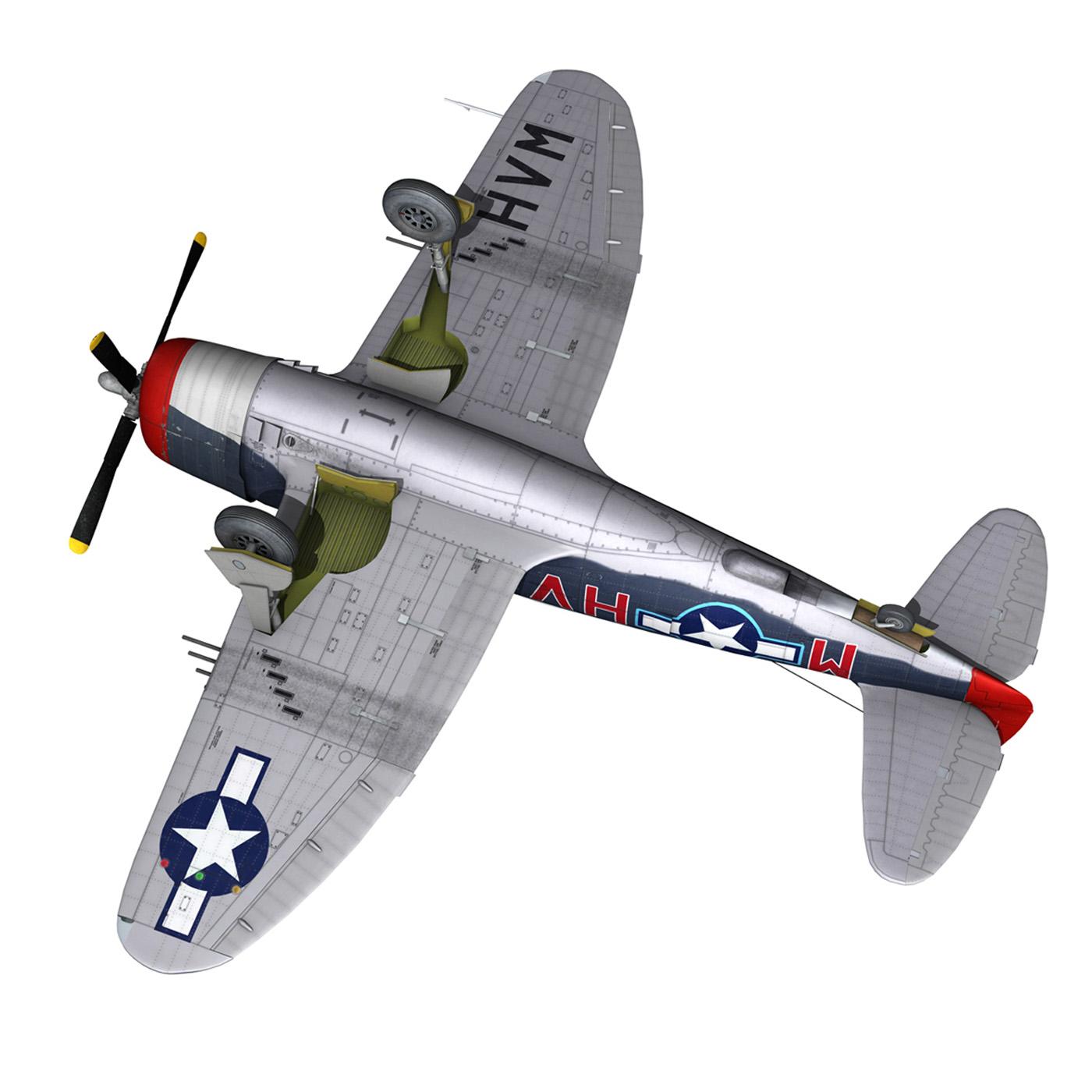 republic p-47m thunderbolt – pengie v 3d model 3ds c4d fbx lwo lw lws obj 279731