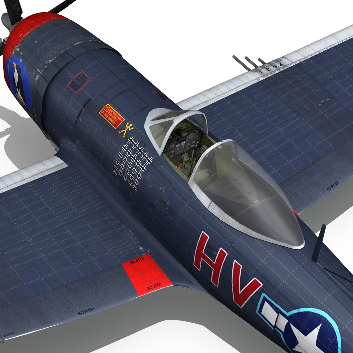 republic p-47m thunderbolt – pengie v 3d model 3ds c4d fbx lwo lw lws obj 279732