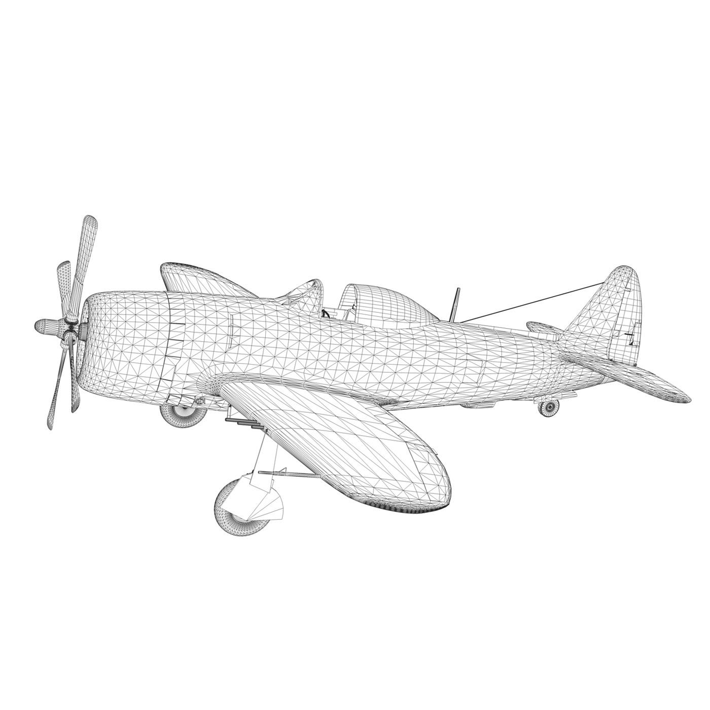 republic p-47m thunderbolt – pengie v 3d model 3ds c4d fbx lwo lw lws obj 279733