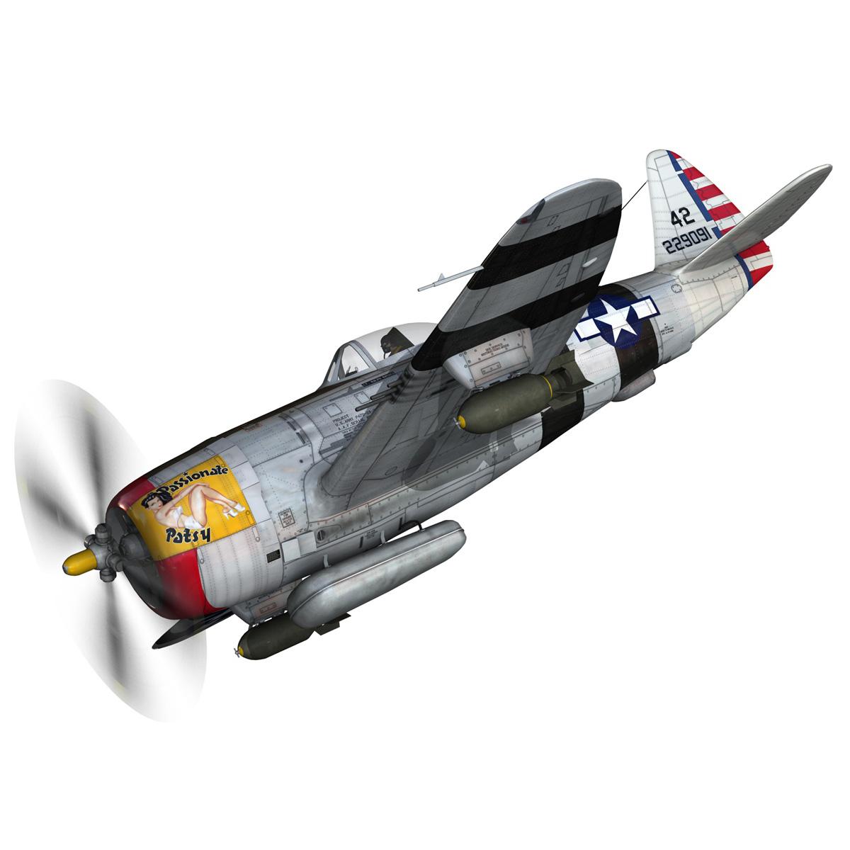 republic p-47 thunderbolt – passionate patsy 3d model fbx lwo lw lws obj c4d 279742