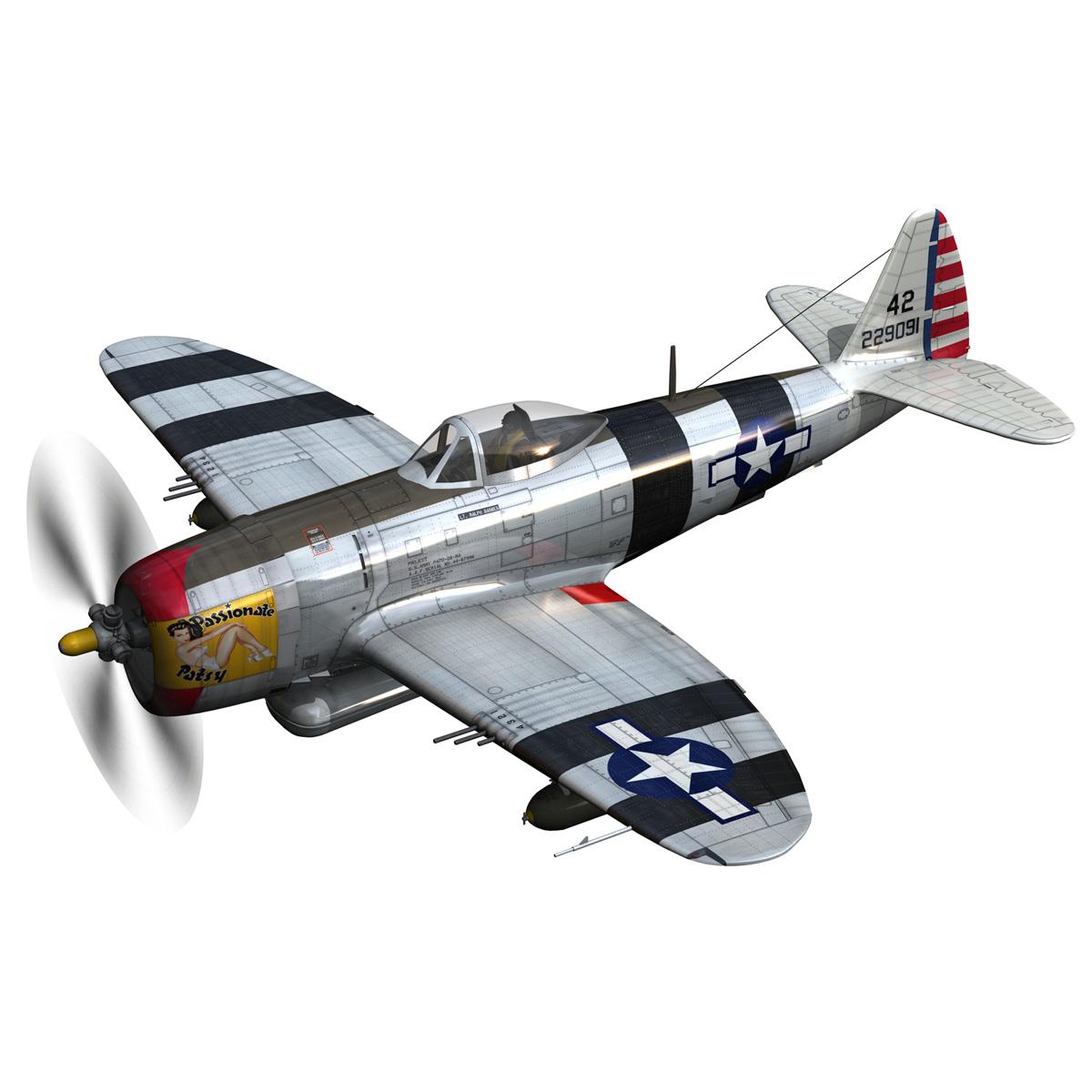republic p-47 thunderbolt – passionate patsy 3d model fbx lwo lw lws obj c4d 279743