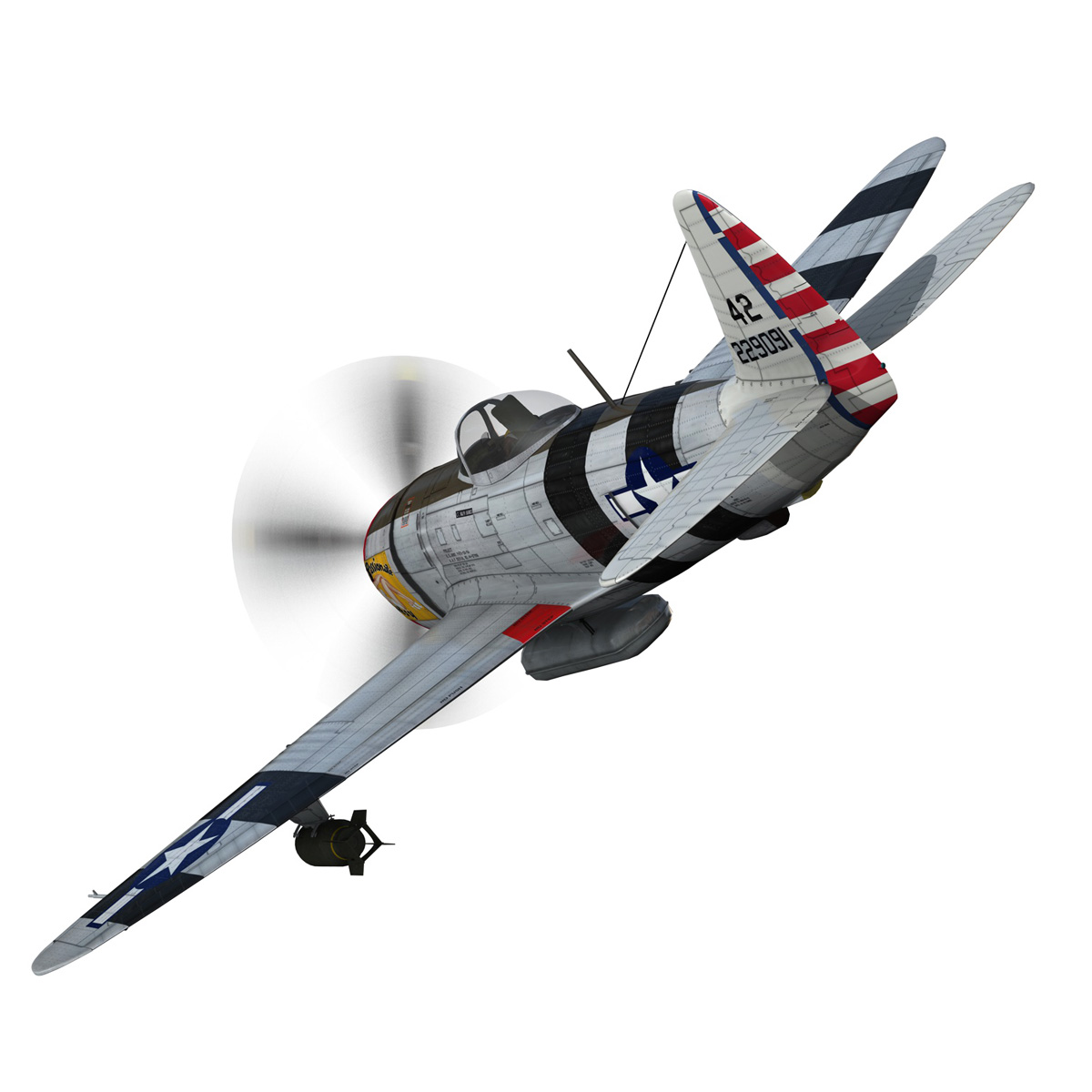 republic p-47 thunderbolt – passionate patsy 3d model fbx lwo lw lws obj c4d 279744