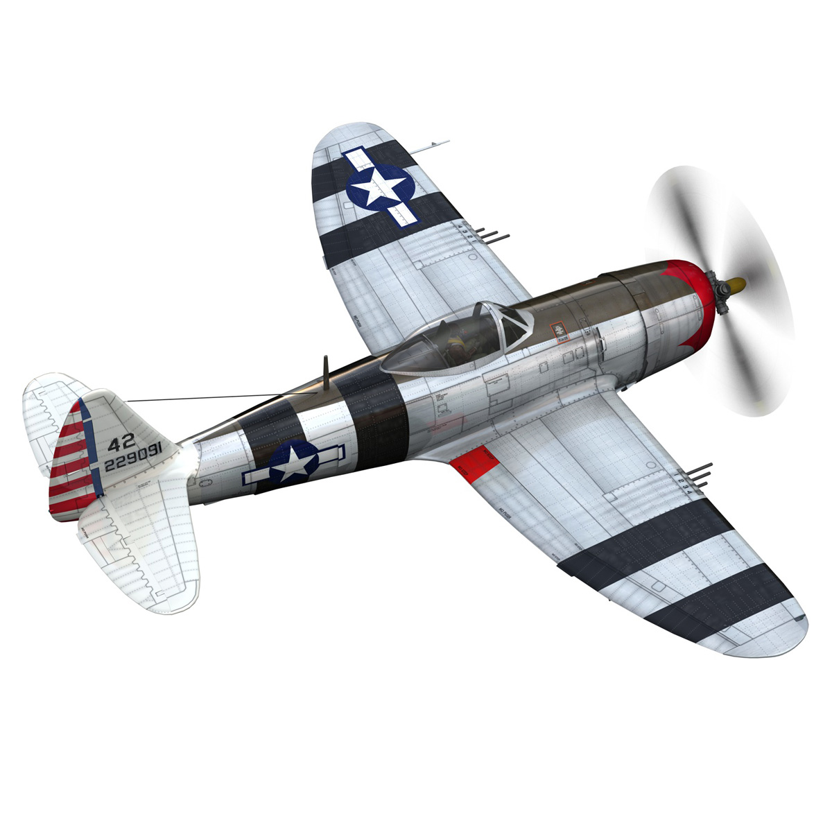 republic p-47 thunderbolt – passionate patsy 3d model fbx lwo lw lws obj c4d 279745