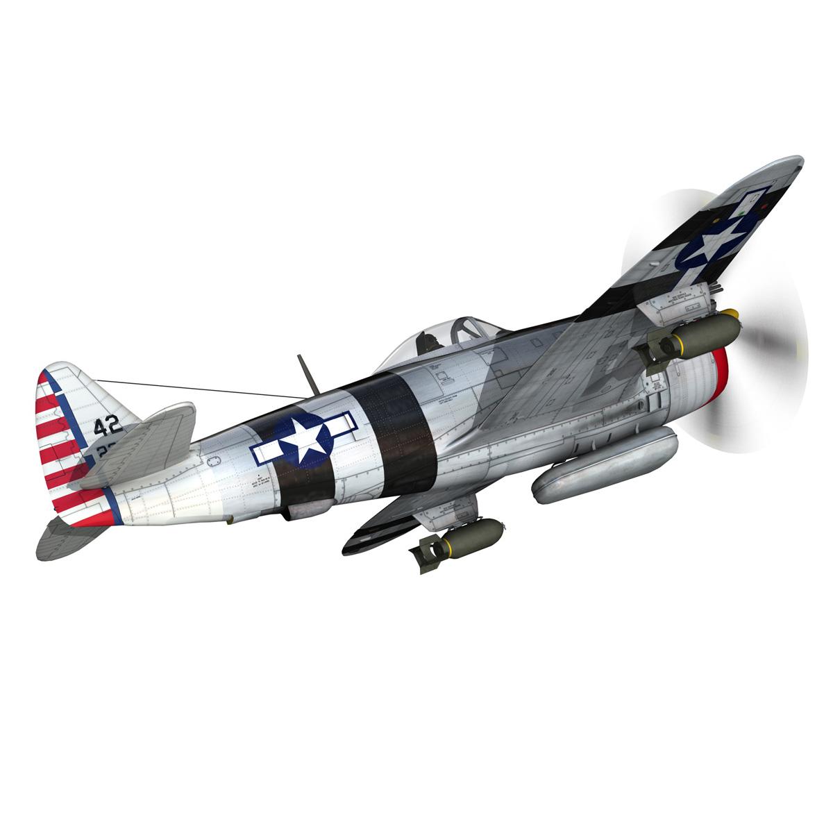 republic p-47 thunderbolt – passionate patsy 3d model fbx lwo lw lws obj c4d 279746
