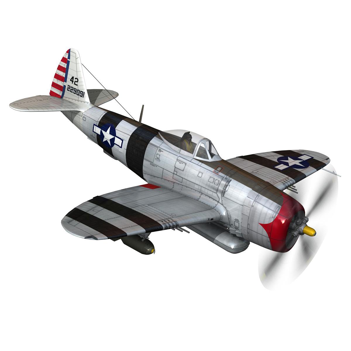 republic p-47 thunderbolt – passionate patsy 3d model fbx lwo lw lws obj c4d 279747