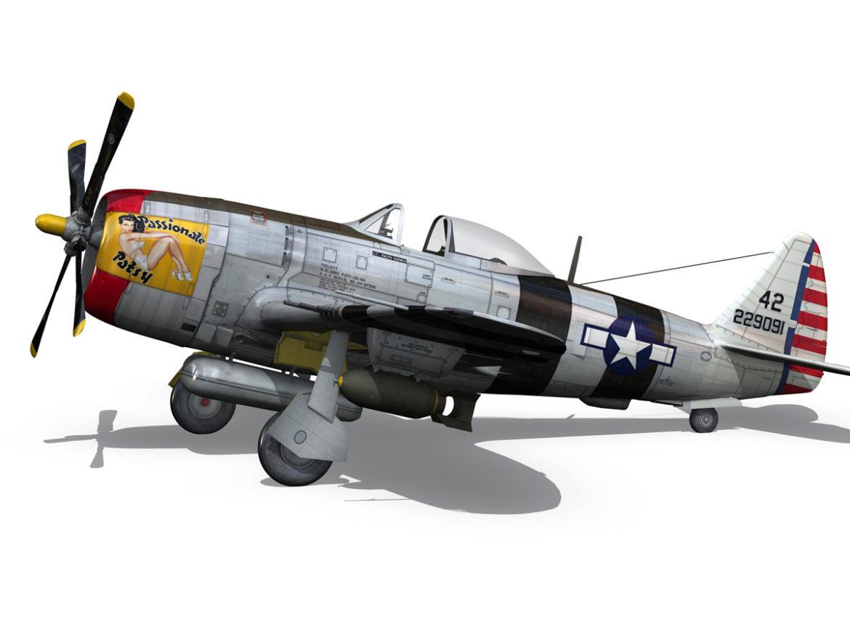 Republic P-47 Thunderbolt - Passionate Patsy 3d model virtual reality