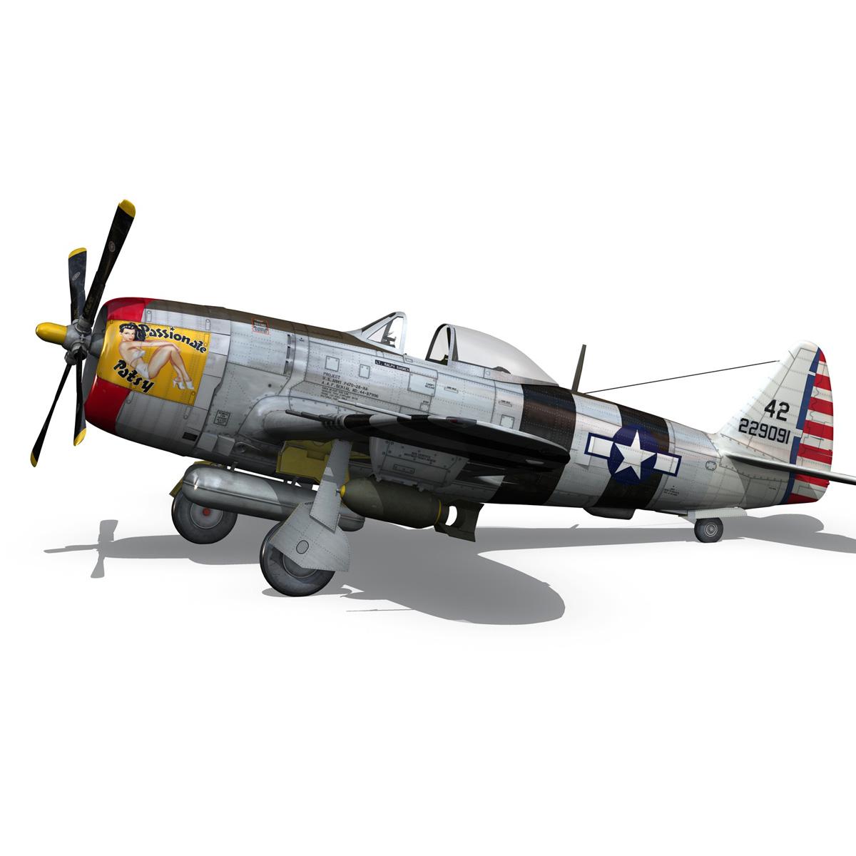 republic p-47 thunderbolt – passionate patsy 3d model fbx lwo lw lws obj c4d 279749