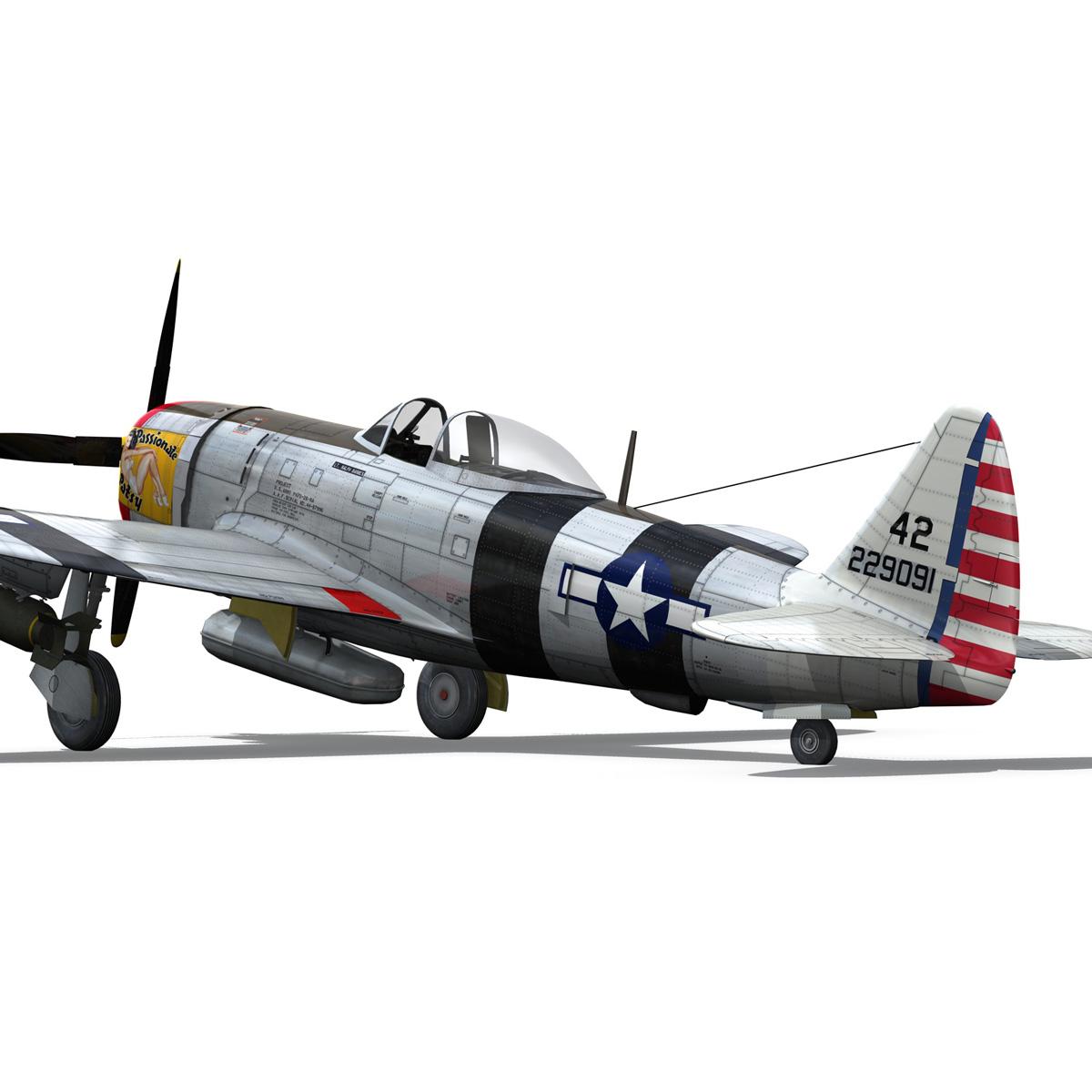 republic p-47 thunderbolt – passionate patsy 3d model fbx lwo lw lws obj c4d 279751