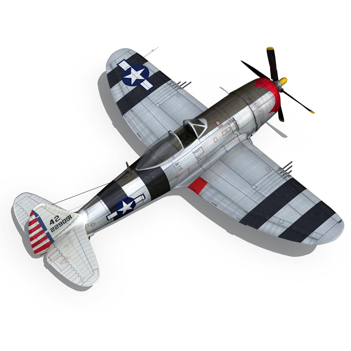 republic p-47 thunderbolt – passionate patsy 3d model fbx lwo lw lws obj c4d 279752