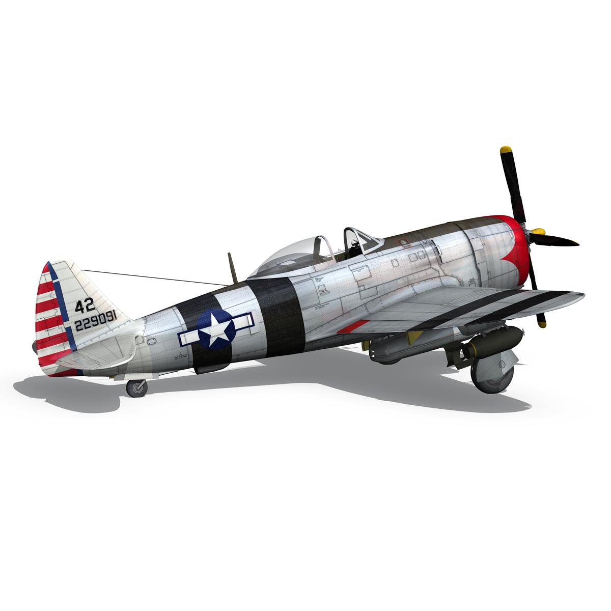 republic p-47 thunderbolt – passionate patsy 3d model fbx lwo lw lws obj c4d 279753