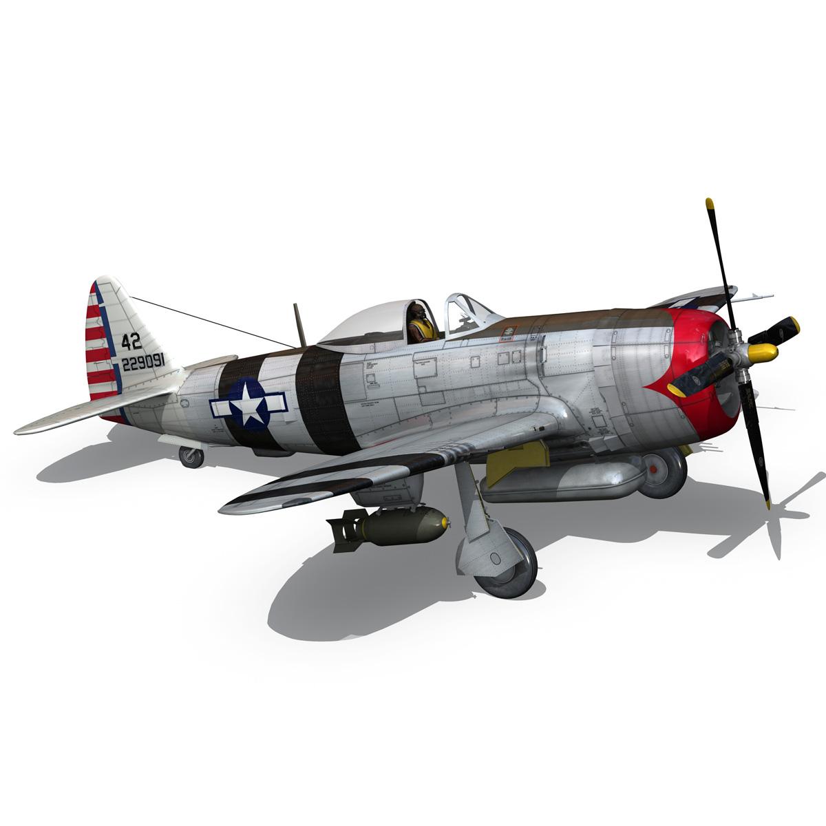 republic p-47 thunderbolt – passionate patsy 3d model fbx lwo lw lws obj c4d 279754