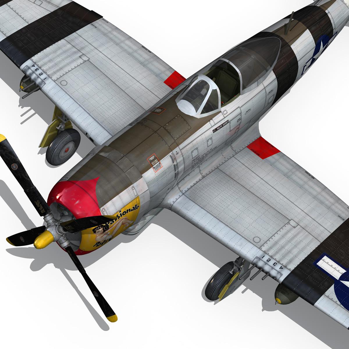 republic p-47 thunderbolt – passionate patsy 3d model fbx lwo lw lws obj c4d 279755
