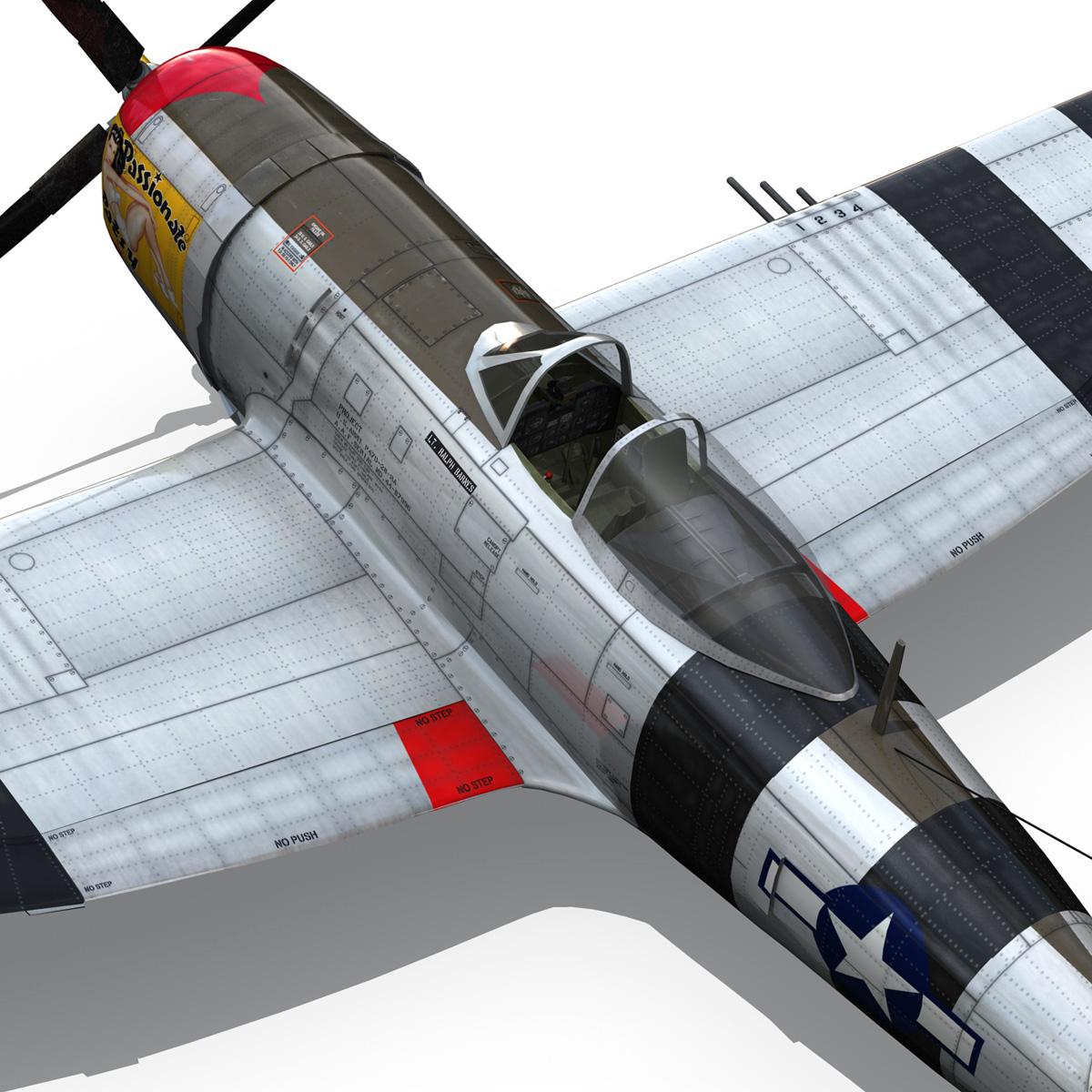 republic p-47 thunderbolt – passionate patsy 3d model fbx lwo lw lws obj c4d 279756