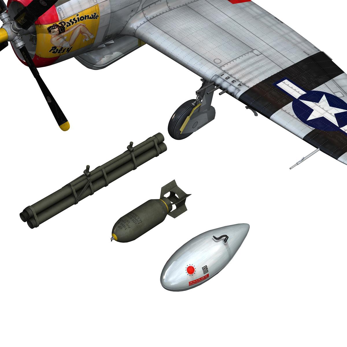 republic p-47 thunderbolt – passionate patsy 3d model fbx lwo lw lws obj c4d 279757