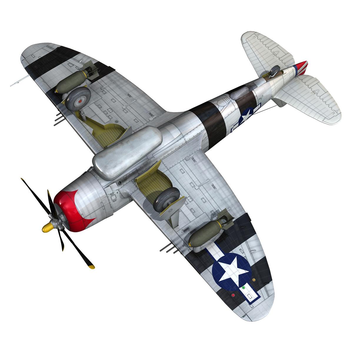 republic p-47 thunderbolt – passionate patsy 3d model fbx lwo lw lws obj c4d 279758