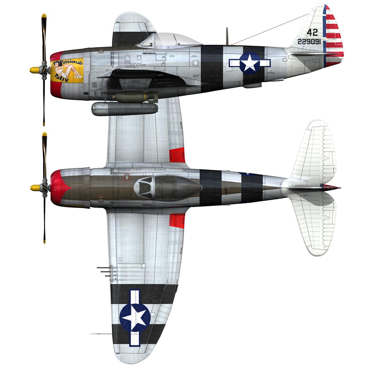 republic p-47 thunderbolt – passionate patsy 3d model fbx lwo lw lws obj c4d 279759