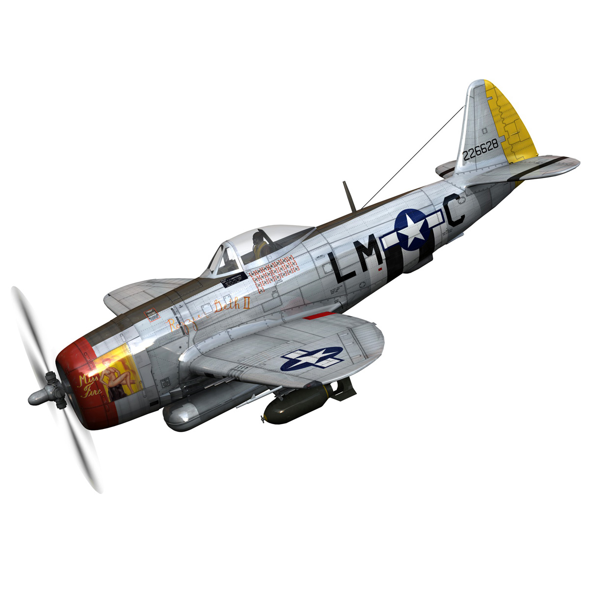 Republic P-47D Thunderbolt - Rozzie Geth II 3d model  279769